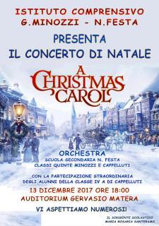 """CONCERTO DI NATALE """"A Christmas Carol"""" - 13 dicembre 2017 - Matera"""