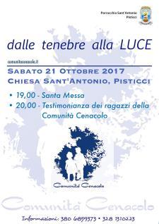 Dalle tenebre alla Luce - 21 ottobre 2017 - Matera