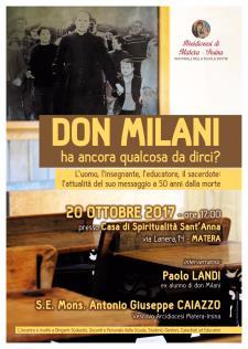 Don Milani - ha ancora qualcosa da dirci? - 20 ottobre 2017 - Matera