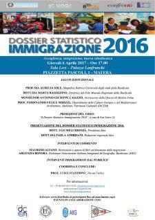 Dossier Statistico Immigrazione 2016 - 6 Aprile 2017 - Matera