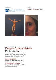 Dragan Culic a Matera - Matera