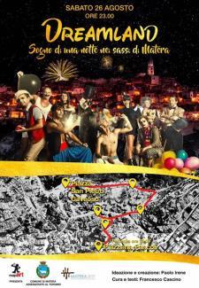 """DREAMLAND """"sogno di una notte nei Sassi di Matera""""  - 26 Agosto 2017 - Matera"""