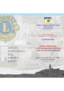 Etica, legalità e cittadinanza attiva...per un futuro migliore - 27 Aprile 2017 - Matera