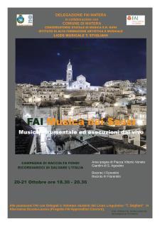 FAI Musica nei Sassi - 20 e 21 ottobre 2017 - Matera