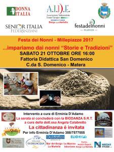 Festa dei Nonni – Millepiazze 2017 - 21 ottobre 2017 - Matera