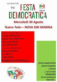 Festa democratica a Nova Siri - 30 agosto 2017 - Matera