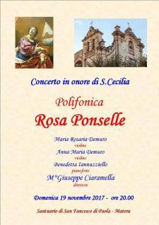 Festa di Santa Cecilia - Patrona dei musicisti - dal 19 al 22 novembre 2017 - Matera
