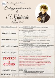Festeggiamenti in onore di S. Gabriele 2017 - Matera