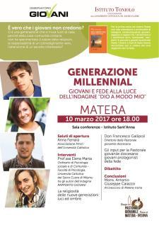 Generazione Millennial - 10 Marzo 2017 - Matera