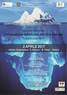 Giornata sulla consapevolezza dell'autismo  - 2 Aprile 2017 - Matera