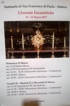 Giornate eucaristiche  - Matera