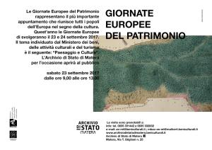 """Giornate Europee del Patrimonio: """"Paesaggio e Cultura"""""""