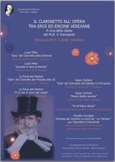 Il Clarinetto all'opera tra eroi ed eroine Verdiane - Matera