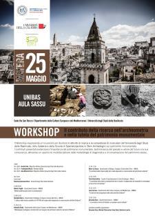 Il contributo della ricerca nell'archeometria e nella tutela del patrimonio monumentale - 25 Maggio 2017 - Matera