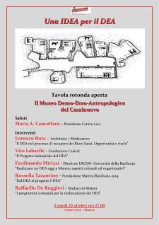 Il Museo Demo-Etno-Antropologico del Casalnuovo - 23 ottobre 2017 - Matera