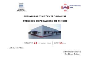 INAUGURAZIONE CENTRO DIALISI - 21 ottobre 2017 - Matera
