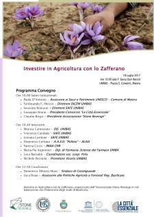 Investire in Agricoltura con lo Zafferano  - 18 Luglio 2017 - Matera