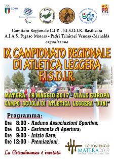 IX Campionato Regionale di Atletica Leggera FISDIR  - Matera
