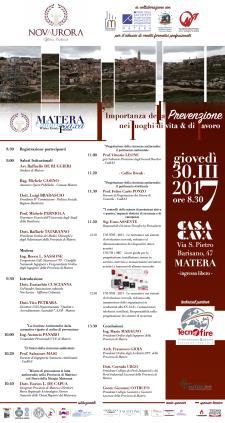 L'Importanza della Prevenzione nei luoghi di vita e di lavoro - 30 Marzo 2017 - Matera