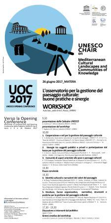 L'Osservatorio per la gestione del paesaggio culturale: buone pratiche e sinergie  - Matera