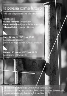 La poesia come futuro - 25 Marzo 2017 - Matera