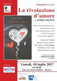 La Rivoluzione d'amore - 10 Luglio 2017 - Matera