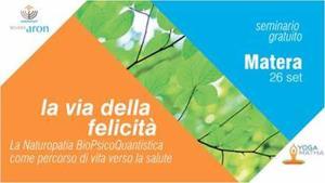 LA VIA DELLA FELICITÀ - 26 settembre 2017 - Matera