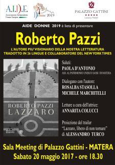 Lazzaro di Roberto Pazzi - Matera
