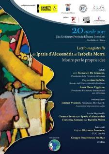 Lectio Magistralis Da Ipazia d'Alessandria ad Isabella Morra  - Matera