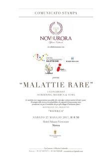 Malattie Rare: screening, ricerca & cura  - Matera