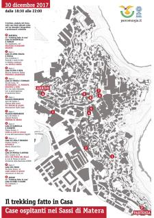Mappa delle case ospitanti nei Sassi di Matera - Matera