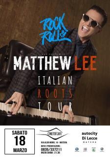 Matthew Lee al Cinetix Cafè - 18 Marzo 2017 - Matera