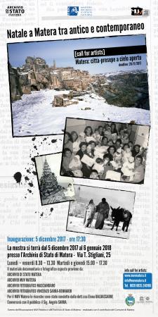 Natale a Matera tra antico e contemporaneo - dal 5 dicembre 2017 al 6 gennaio 2018 - Matera