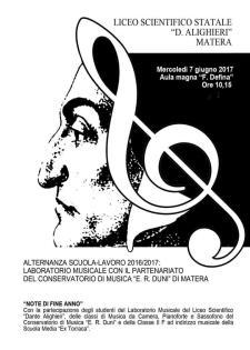 Note di fine anno - 7 Giugno 2017 - Matera