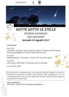 Notte sotto le stelle  - 10 Agosto 2017 - Matera