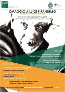Omaggio a Luigi Pirandello  - Matera