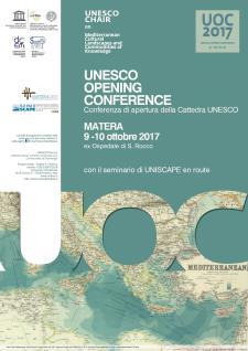 Opening Conference della Cattedra UNESCO  - Matera