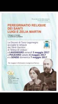 Peregrinatio Reliquie dei Santi Luigi e Zelia Martin - Matera