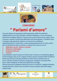 """Premiazione del Concorso """" Parlami d'Amore""""  - Matera"""