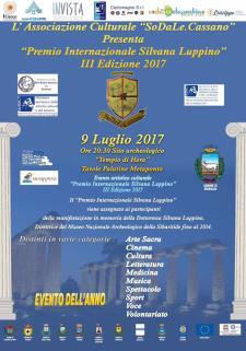"""Premio Internazionale """"Silvana Luppino"""" - III edizione  - 9 luglio 2017 - Matera"""