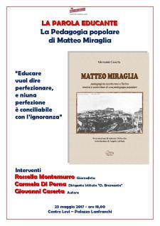 """Presentazione del libro """"Matteo Miraglia"""" - 18 Maggio 2017 - Matera"""