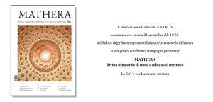 Presentazione di Mathera - 21 settembre 2017 - Matera