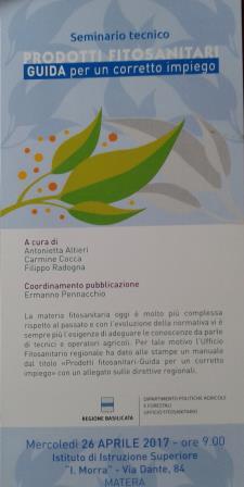 Prodotti fitosanitari-guida per un corretto impiego  - Matera