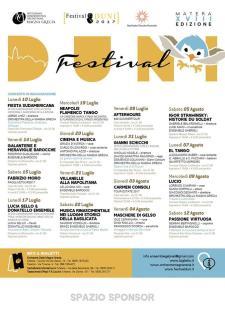 Programma del Festival Duni 2017 - Matera