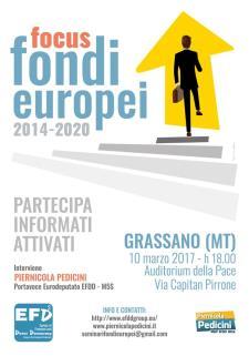 Programmazione dei fondi europei per gli anni 2014-2020 - Matera