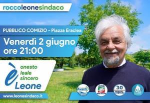 Pubblico comizio sul programma amministrativo del candidato sindaco Leone Rocco - Matera