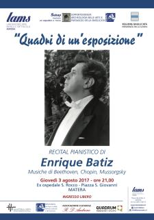 Quadri di un'esposizione recital pianistico del Maestro Enrique Bátìz  - Matera
