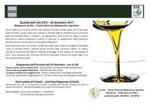 Qualità dell'olio EVO  - Matera