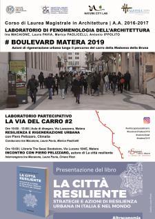 Resilienza e rigenerazione urbana - 31 Marzo 2017 - Matera