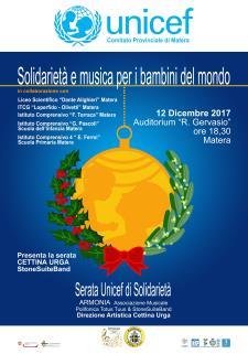 Solidarietà e Musica per i bambini del mondo - 12 dicembre 2017 - Matera
